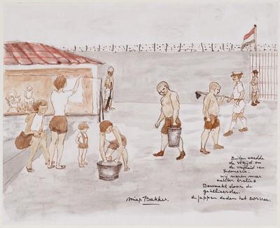Buiten woedde de strijd om de vrijheid van Indonesia