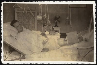 Patiënt in militair hospitaal