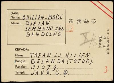 Van C. Hillen aan J.J. Hillen