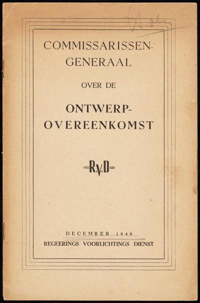 Commissarissen-Generaal over de ontwerp-overeenkomst