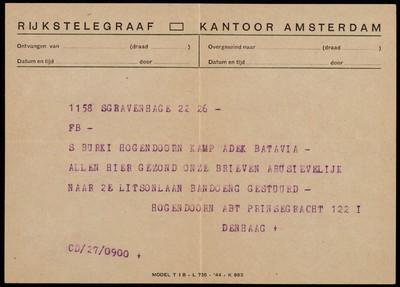 Van mevrouw S. Burki-Hogendoorn aan Abt Hogendoorn