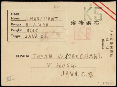 Van H. Marchant aan W. Marchant