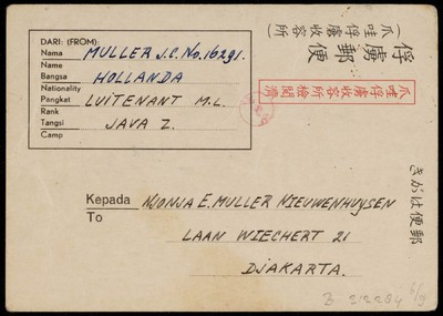 Van E.H.M. Muller-Nieuwenhuysen aan J.C. Muller en v.v.
