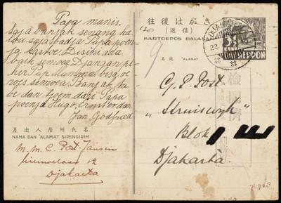 Van M.M.C. Post-Jansen aan G.P. Post