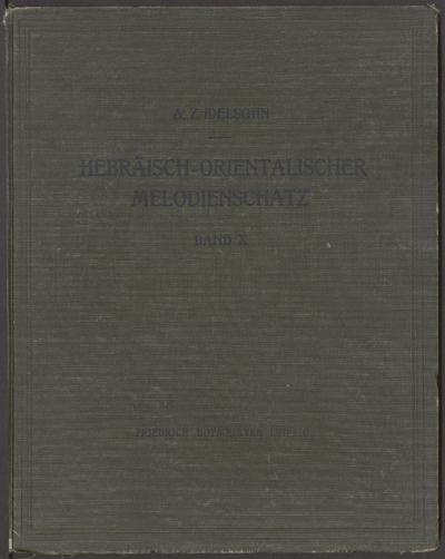 Hebräisch-orientalischer Melodienschatz