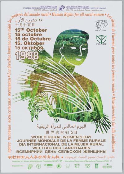 World Rural Women's Day : celebrating biodiversity / Journée mondiale de la femme rurale : célébrer la biodiversité / Dia internacional de la mujer rural / celebrando la biodiversidad / Welttag der Landfrauen : die biologische Vielfalt schätzen