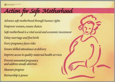 Action for safe motherhood