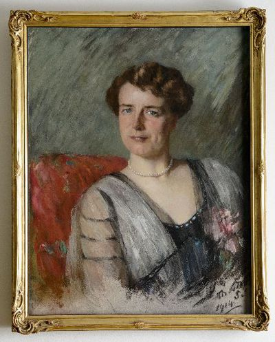 Een schilderij voorstellende Esther Welmoet Wijnaendts Francken-Dyserinck.