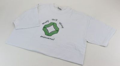 T-shirt. 'Empowerment: equality, equity, efficacy'