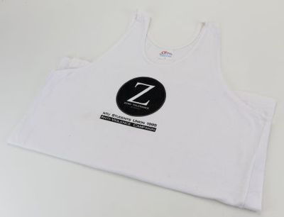 T-shirt. 'Z: Zero tolerance of violence'