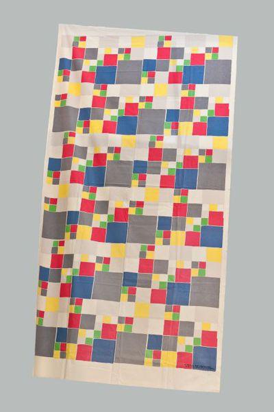Linnen doek  met gekleurde blokken