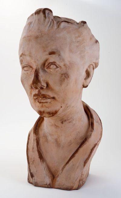 Borstbeeld van W.H.Posthumus-van der Goot