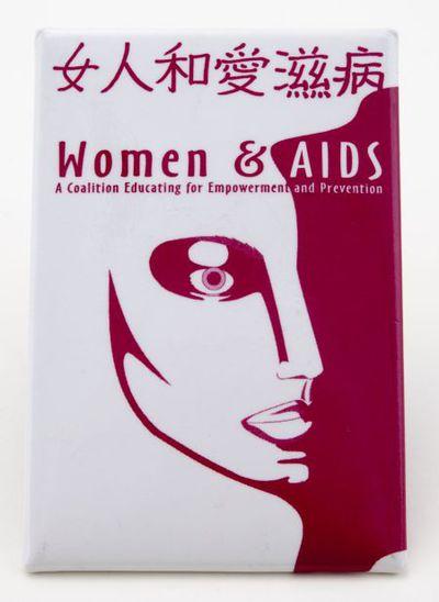 Button. Women & Aids
