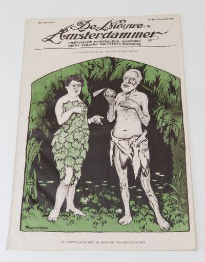 Afdruk voorkant 'De Nieuwe Amsterdammer' met Aletta Jacobs