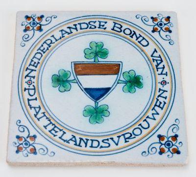 Tegel. 'Nederlandse Bond van Plattelandsvrouwen'