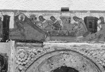 Nativity of St John the Baptist, detail from the icon of St John the Baptist with scenes of his life