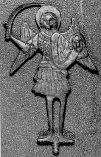 Silver votive figure with Archangel Michael