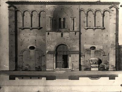 Veduta del cosiddetto Palazzo di Teodorico