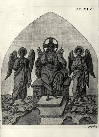 Cristo in trono tra due angeli, dalla decorazione musiva perduta della Basilica di Sant'Agata Maggiore a Ravenna