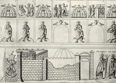 Decorazione a mosaico della Basilica di Sant'Apollinare Nuovo a Ravenna