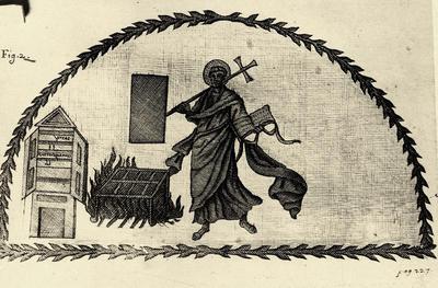 Martirio di sant'Andrea, dal mosaico del Mausoleo di Galla Placidia