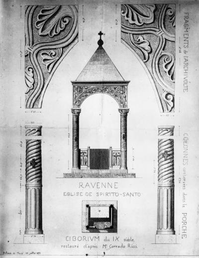 Ricostruzione ipotetica del ciborio della Basilica dello Spirito Santo di Ravenna