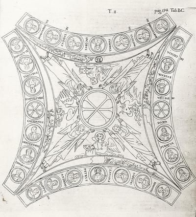 Riproduzione della volta mosaicata della Cappella Arcivescovile di Ravenna