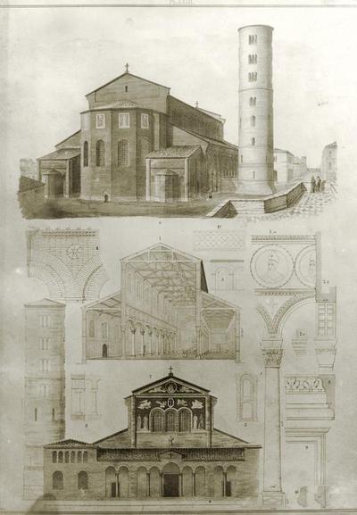 Incisione rappresentante la Basilica di Sant'Apollinare in Classe a Ravenna