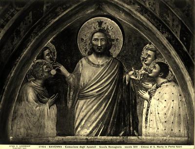 Pietro da Rimini, Comunione degli apostoli, già Ravenna, Basilica di Santa Maria in Porto Fuori