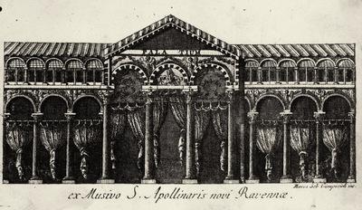 Marco Sebastiano Giampiccoli, Il palazzo di Teodorico, incisione tratta dai mosaici di Sant'Apollinare Nuovo