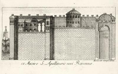 Marco Sebastiano Giampiccoli, La città di Classe, incisione tratta dai mosaici di Sant'Apollinare Nuovo