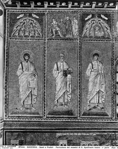 Ravenna, Basilica di Sant'Apollinare Nuovo, Profeti e la guarigione del paralitico di Bethesda