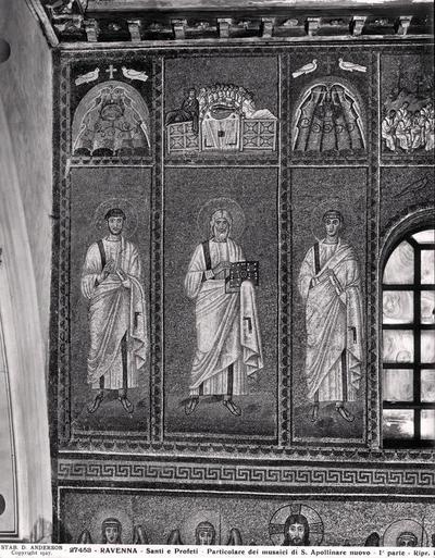 Ravenna, Basilica di Sant'Apollinare Nuovo, Profeti e Ultima Cena