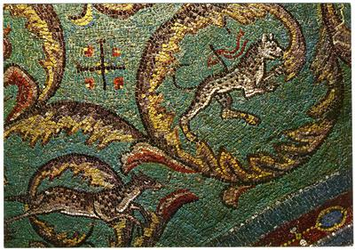 Ravenna, Basilica di San Vitale, Racemi d'acanto, particolare