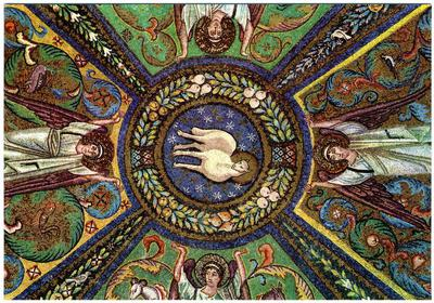 Ravenna, Basilica di San Vitale, Volta a crociera, particolare