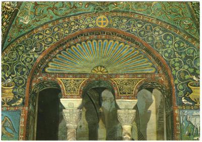 Ravenna, Basilica di San Vitale, Arco e lunetta della trifora