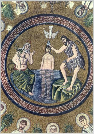 Ravenna, Battistero degli Ariani, Battesimo di Cristo