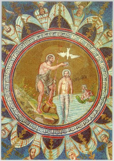 Ravenna, Battistero Neoniano, Battesimo di Cristo