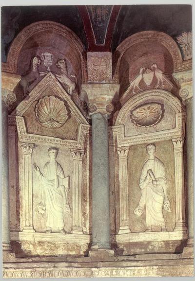 Ravenna, Battistero Neoniano, Edicole con profeti