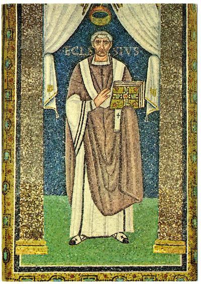 Ravenna, Basilica di Sant'Apollinare in Classe, Vescovo Ecclesio