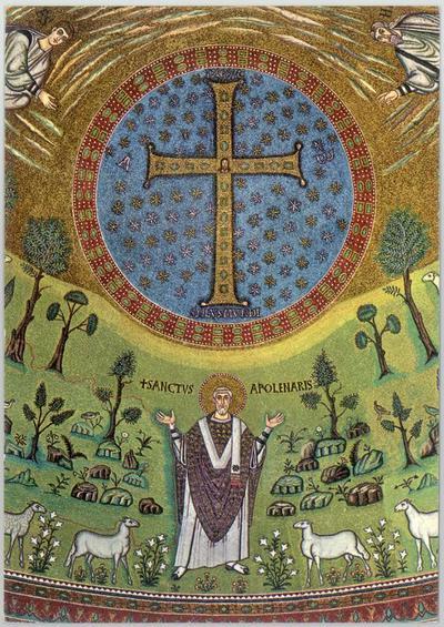 Ravenna, Basilica di Sant'Apollinare in Classe, Trasfigurazione, Sant'Apollinare, particolare