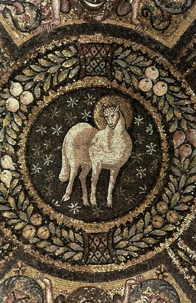 Ravenna, Basilica di San Vitale, Agnus Dei