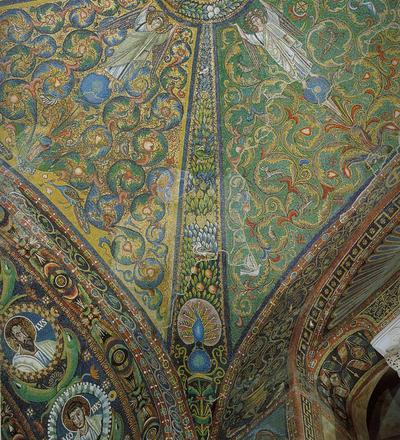 Ravenna, Basilica di San Vitale, Pennacchio della volta a crociera