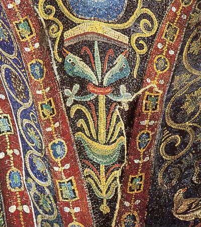 Ravenna, Basilica di San Vitale, Pennacchio della volta a crociera, particolare
