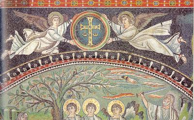 Ravenna, Basilica di San Vitale, Angeli con croce apocalittica