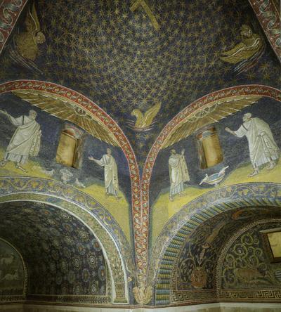 Ravenna, Mausoleo di Galla Placidia, Cupola con cielo stellato