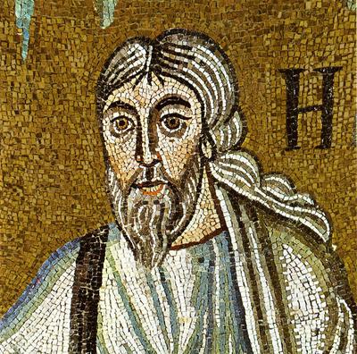 Ravenna, Basilica di Sant'Apollinare in Classe, Trasfigurazione, Profeta Elia, particolare