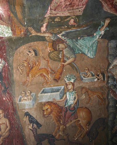 Holy Bishopric of Morphou: Mural painting of the part of the Second Coming, Church of the Holy Cross of Ayiasmati (8-8,113)
