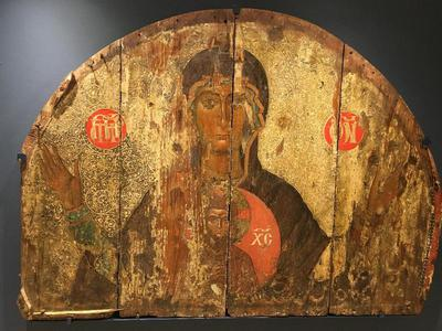 Byzantine Museum of Holy Bishopric of Tamasos and Oreinis (Cyprus):  Icon of Mother of God Blachernitissa (TE2263)