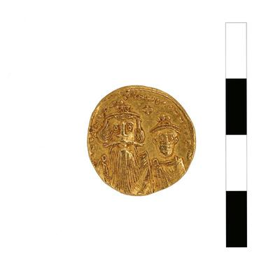 Byzantine Museum of Holy Bishopric of Tamasos and Oreinis (Cyprus): Solidus of Constans II (641-668) (TN81) Obverse